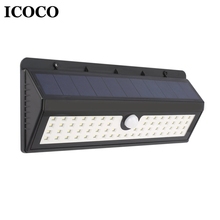 ICOCO 8/30/44/45/62 LED Wireless Solar Motion Sensor Wall Lamp with 3 Modes Security Lights for Yard Garden Lamp Drop Shipping