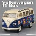 KINGSMART 1962 Volkswagen 1:24 Масштаб Литья Под Давлением Автобус Игрушки, живопись Onibus, Открывающиеся двери Модель Автомобиля Игрушка Для Коллекции/Подарок