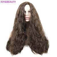 JOY&BEAUTY Hair 70cm Dark Brown Long Curly Wig Synthetic Hair Women Costume Wigs Heat Resistant Fiber Free Shipping
