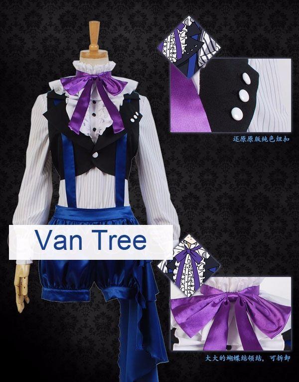 Kuroshitsuji Black Butler Ciel Phantomhive Book of Circus Cosplay Fancy Costume