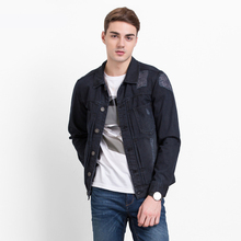 Men jean jacket men denim jackets for men stand collar 100 cotton outerwear jean jacket men