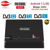 MECOOL KI PRO TV Box K1PRO DVB S2 + T2 Amlogic S905D Quad 2G + 16G DVB T2 y S2/DVB T2/DVB S2 DVB C Set Top Box Android 7 1 caja de TV|pro tv box|box androidtv box -