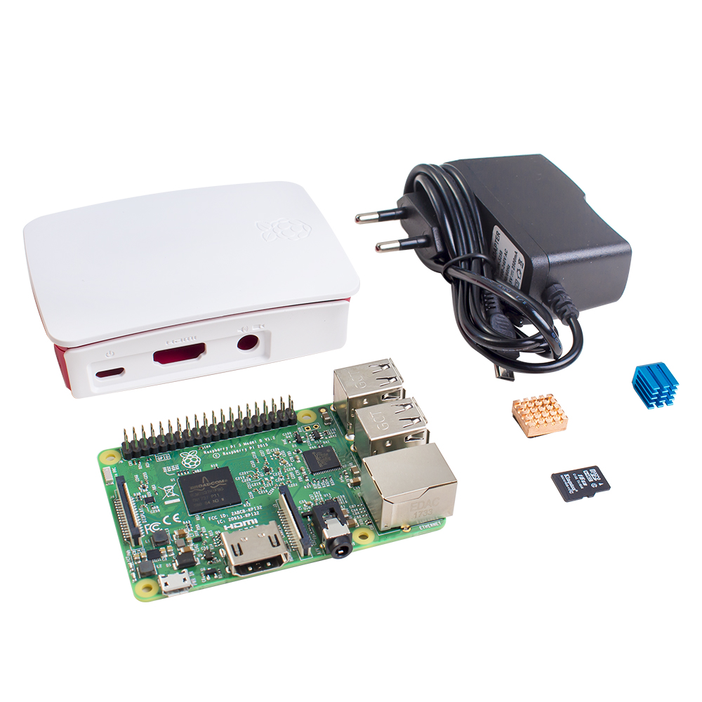 SunFounder Raspberry Pi 3 Model B With WiFi & Bluetooth Quad Core 1.2GHz 64bit CPU Raspberri pi 3 b Kit