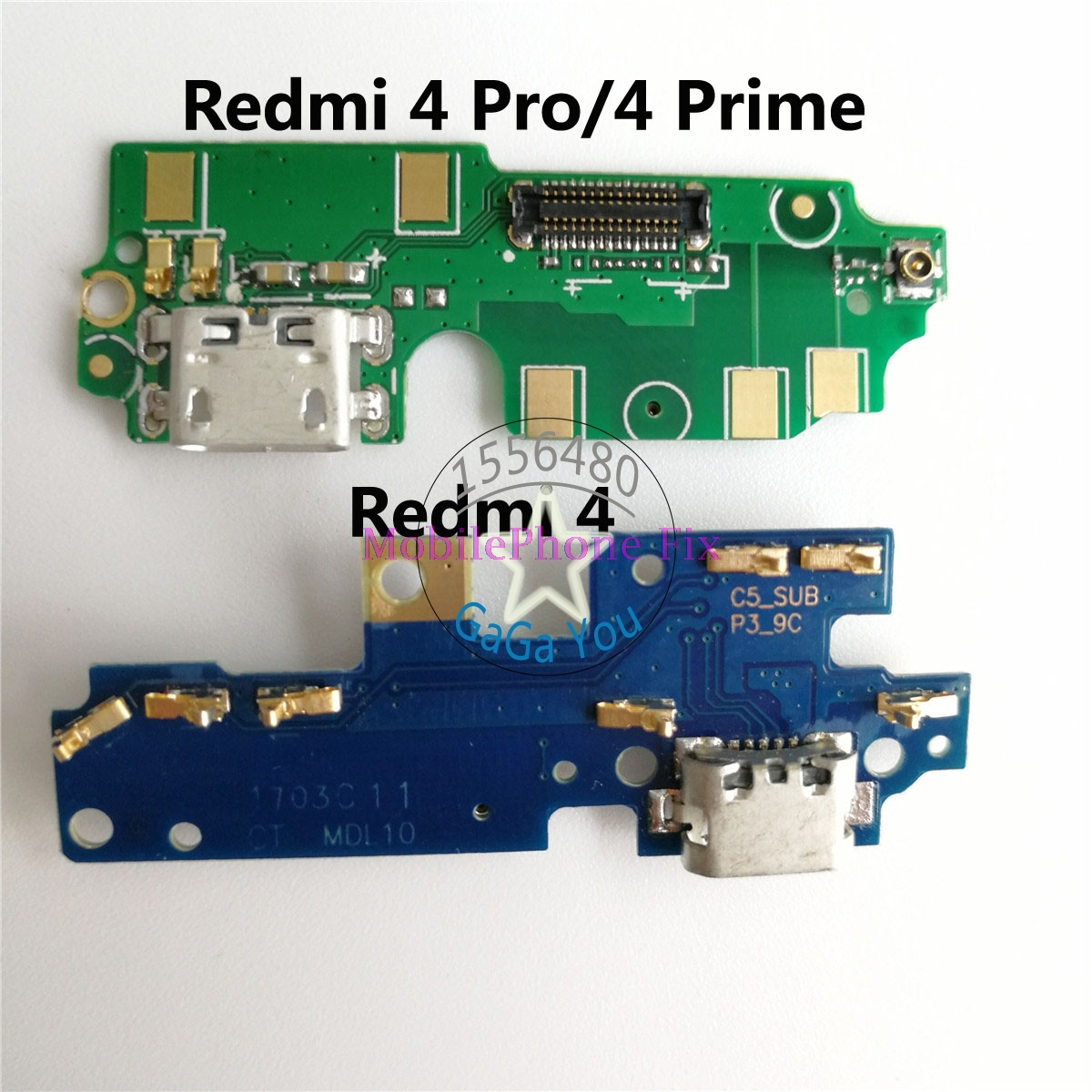 For Xiaomi <font><b>Redmi</b></font> <font><b>4</b></font>/ <font><b>Redmi</b></font> <font><b>4</b></font> <font><b>Pro</b></font> Prime Micro Dock Connector Board <font><b>USB</b></font> Charging Port Flex Cable with Mircrophone Modules Parts image