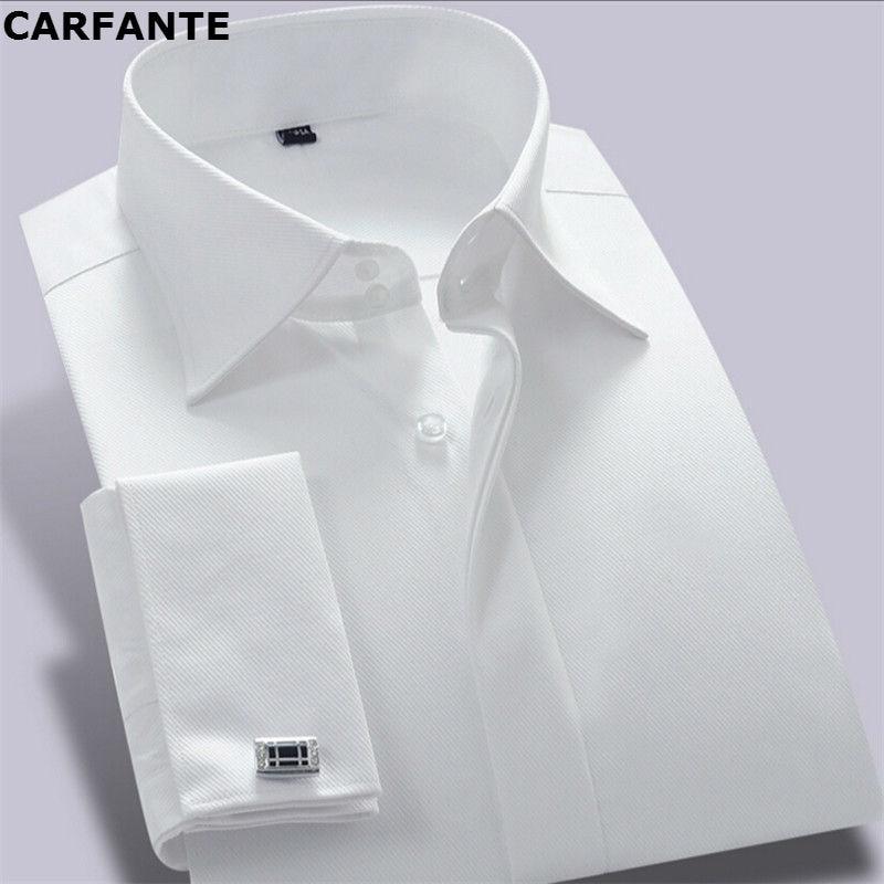 CARFANTE Herren Business Hemd Marke Langarm Twill Französisch - Herrenbekleidung - Foto 1