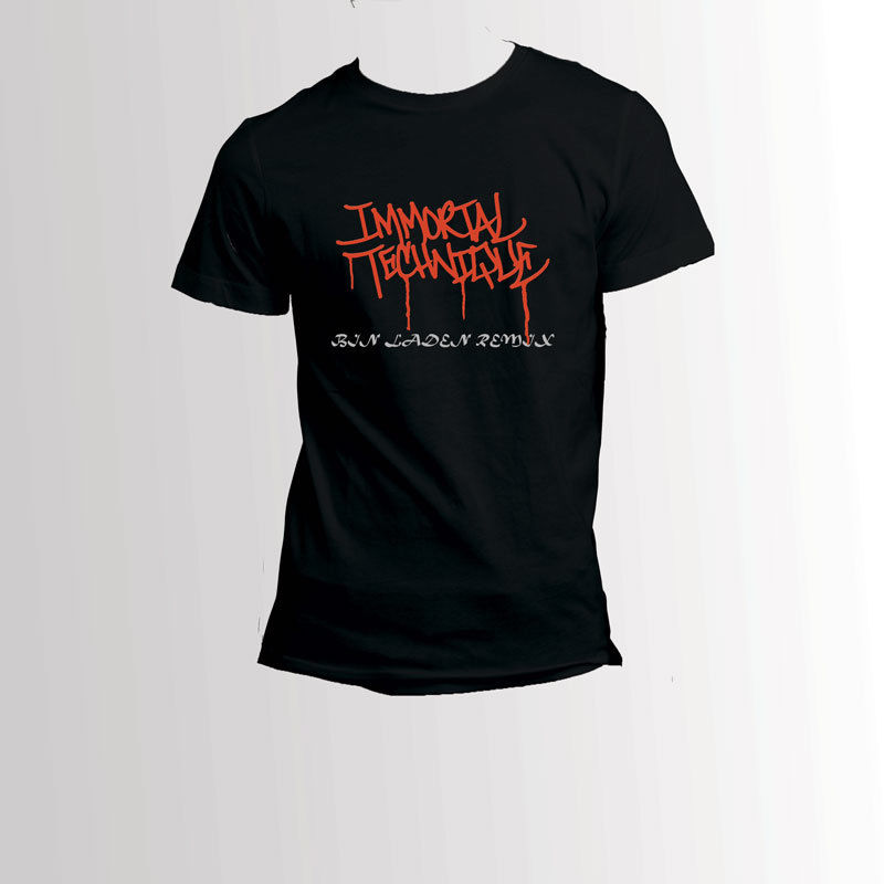 Бессмертный техника бен Ладена Remix черная футболка Для Мужчинs
