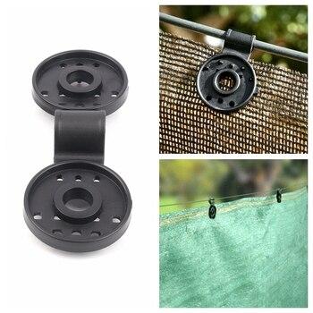 Tewango 50 Uds 10 Uds Clip de red de sombrilla herramientas de jardín broches de tela de sombra de invernadero Clips de malla de cerco instantáneo de plástico