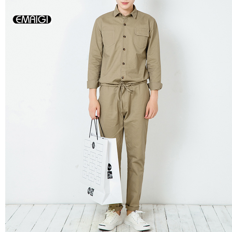 Men Jumpsuits High Street Hiphop Bibi Overalls Mens Tooling Harem Pant Jumpsuits Fashion One Piece Long Sleeve Casual Pant ...