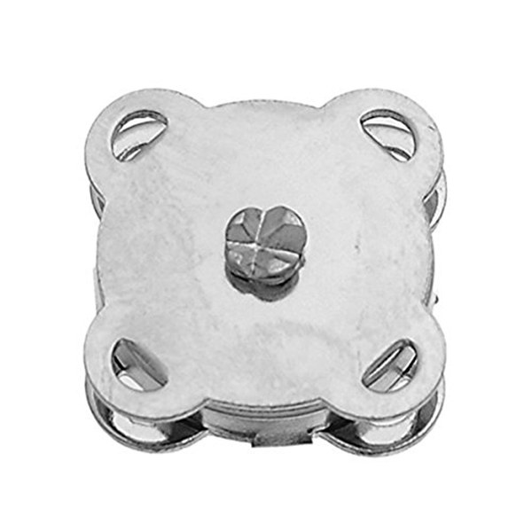 10 Sets of 14mm Sew In Magnetic Bag Clasps Button Snaps (Silver)