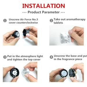 Image 5 - Hava Spreyi Araba Kokusu LED Mini Klima Havalandırma Çıkışı Parfüm Klip Taze Aromaterapi Koku Alaşımlı Oto Araba Aksesuarları