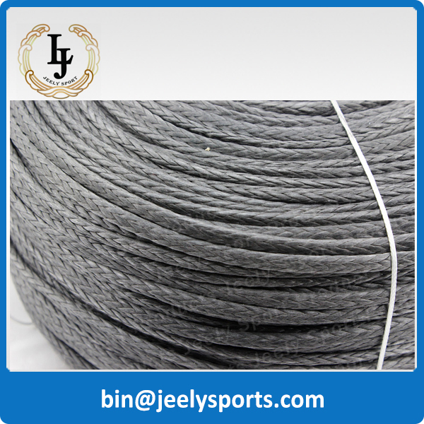 Free Shipping 1000m 2600lb uhmwpe fiber braid paraglider winch rope 3.5mm 12 weave