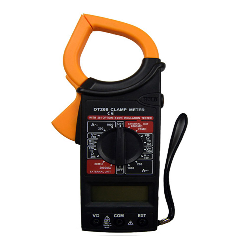 DT266 portable digital display high precision automatic with buzzer AC and DC digital clamp multimeter