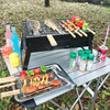 Feistel Outdoor Camping Cold Rolled Plate Burn Oven Picnic BBQ Charcoal Grill Portable Folding Stove Home