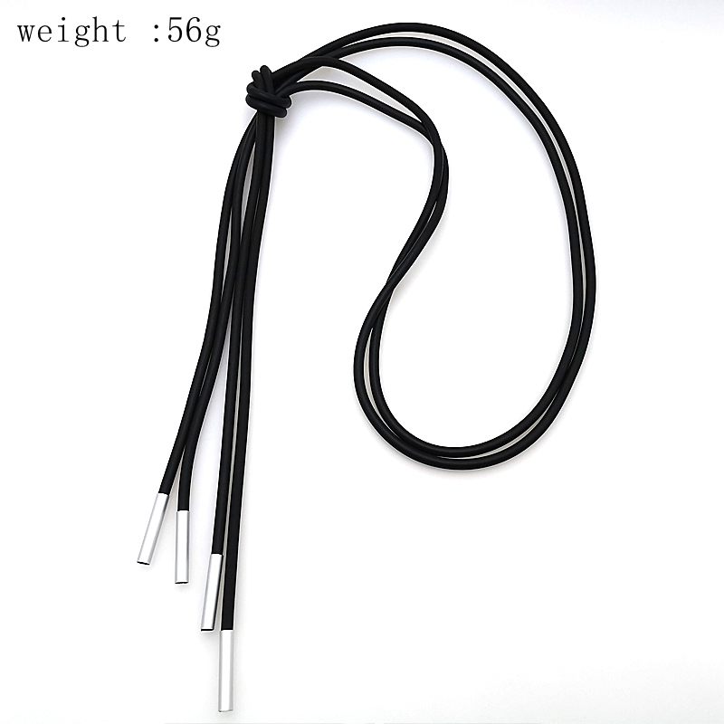 YD YDBZ 2019 New Tassel Leather Necklaces For Women Long Choker Handmade High Quality Collares Chains Gothic Dress Accessories