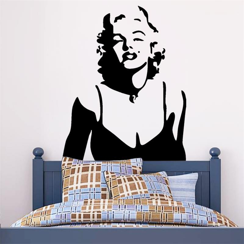 Marilyn Monroe Wall Decor Red Lips Wall Stickers Home Decoration Wall  Decals Decorative Living Room Wall Sticker Wallpaper In Wall Stickers From  Home ...