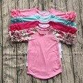 free shipping girls clothes o-neck baby girls kids icing ruffle raglan tops shirts girls casual tops fall Autumn top T-shirt