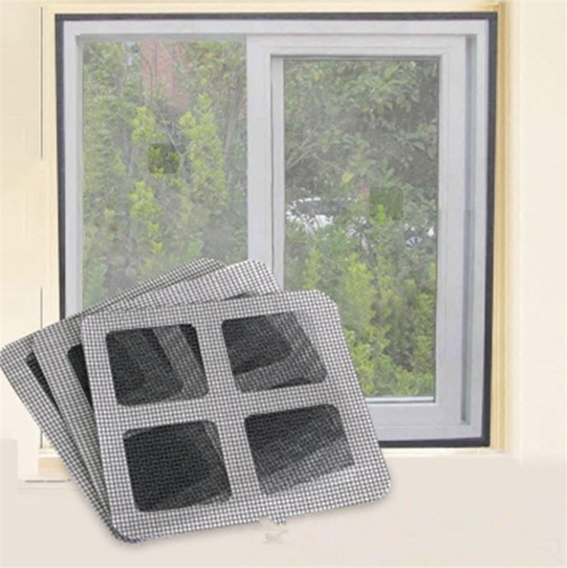 Wholesale Fix Net Window Home Adhesive Anti Mosquito Fly Bug Insect Repair Screen Wall Patch Stickers Mesh Window Screen Door