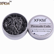 Consumer Electronics - Electronic Cigarettes - 50/100 Pcs Flat Twisted  Fused Clapton Coils Hive Premade Wrap Wires Alien Mix Twisted Quad Tiger Heating Resistance Rda Coil