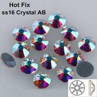 1440 pz/lotto, di Qualità AAA Nuovo Facted (8 grande + 8 piccolo) ss16 (3.8-4.0mm) di Cristallo AB di Ferro Sul Hotfix Strass