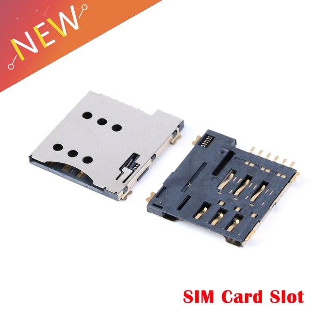 10 chiếc Tự đẩy khe cắm SIM 6 P 6 Micro SIM thẻ Nhớ Giá Đỡ Adapter kết nối sử dụng GSM Module SIM800L SIM800C