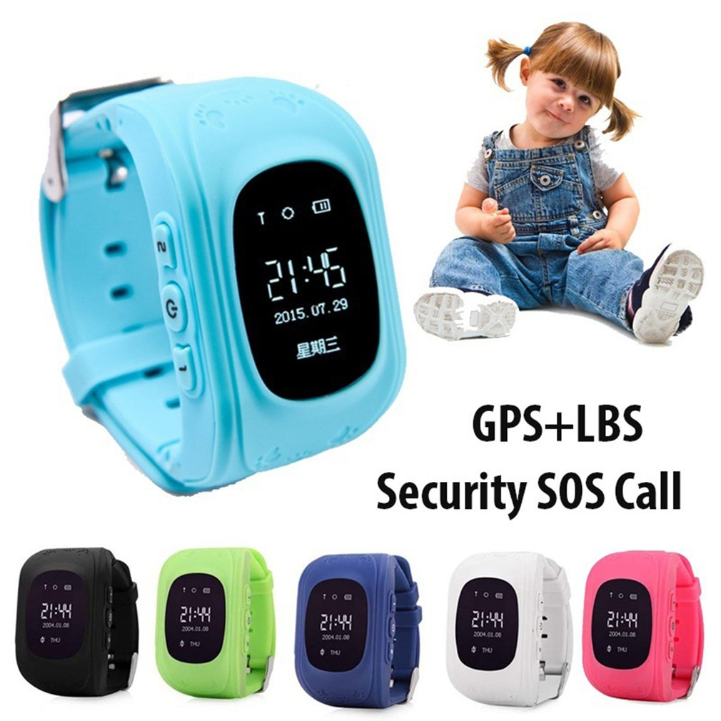 Q50 Children Smartwatch Soft Silicone Wristwatch Waterproof GPS Locator Tracker Anti-Lost Smartwatch Child Guard for iOS Android