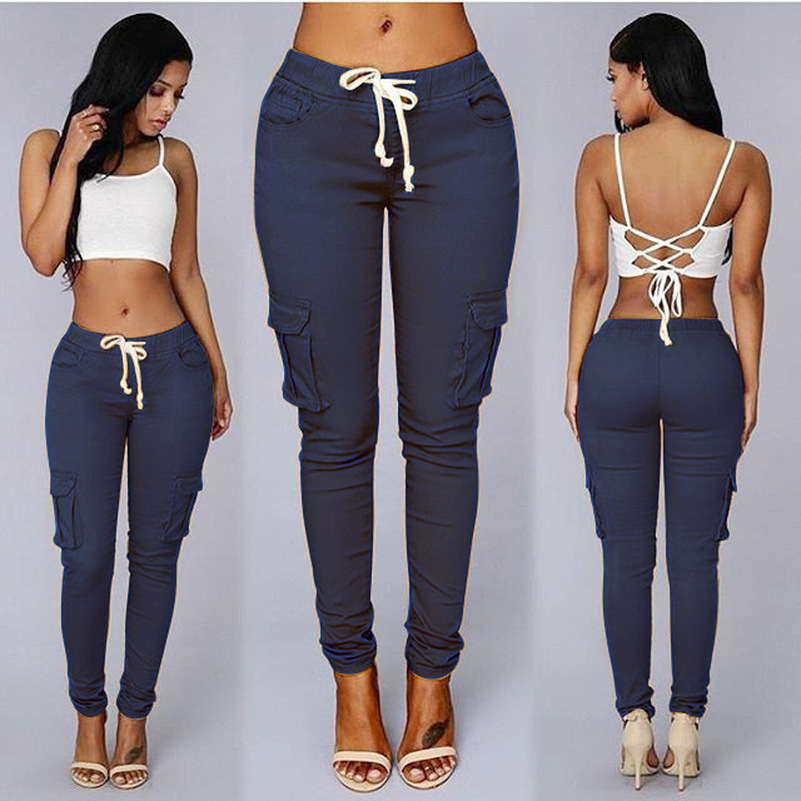 Factory Source Sales Good Elastic Nice Material Packets cute 2019 New Design Fashion Soft colorful Skinny women Ladies Pants(China)