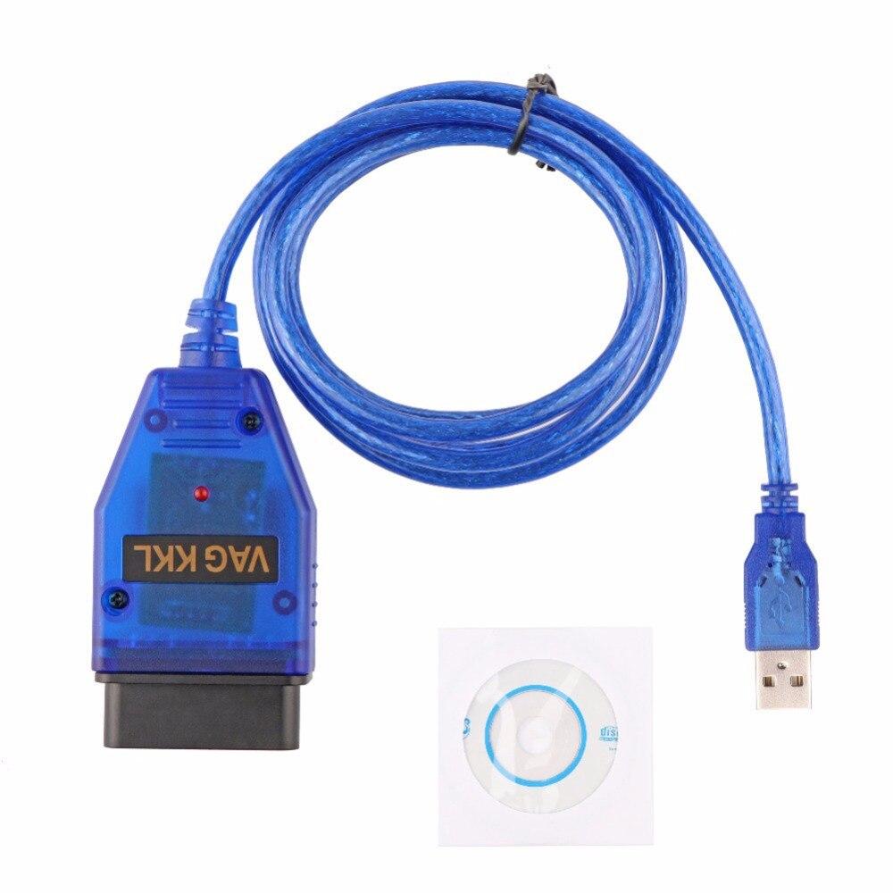 Nueva VAG KKL 409 USB Cable VAG 409,1 KKL USB interfaz OBD2/OBDII exploración OBD Cable para Audi para VW VAG serie