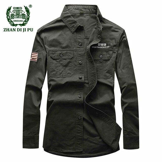 coton printemps Militaire 2018 armée casual vert marque pur hommes xq4UwUdpYC