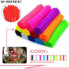 72Pcs/Pack Bike Wheel Spoke Protector Colorful Motocross Rims Skins Covers Off Road Guard Wraps Kit Motorcycle