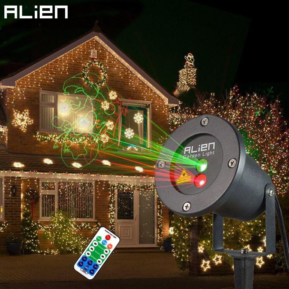 Alien Outdoor Landschaft Laser Beleuchtung Wasserdichte 8 Muster Bewegung Noch Weihnachten Lichteffekt Aluminium Luces Discoteca Lampe Luces Discoteca Light Effectlandscape Laser Aliexpress