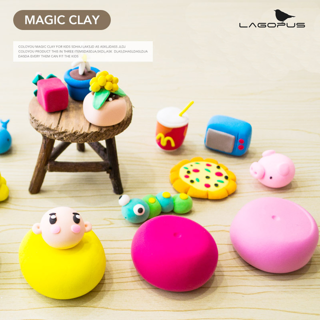 Slime Toys 24 Colors Ultra Light Clay Slime Plasticine Safety Non