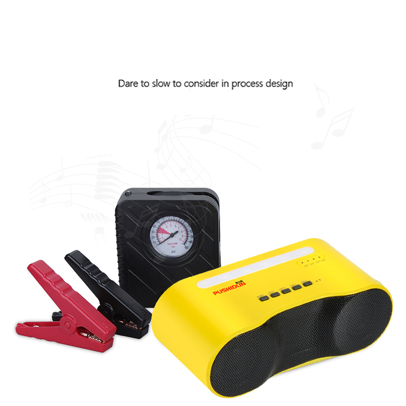 2016 Mini Portable 3 in 1  High Quality Car Jump Starter  Emergency  Multi-Function  Power bank Battery Charger Air compressor high quality 12v universal car charger 50800mah multi function car jump starter power bank rechargable battery