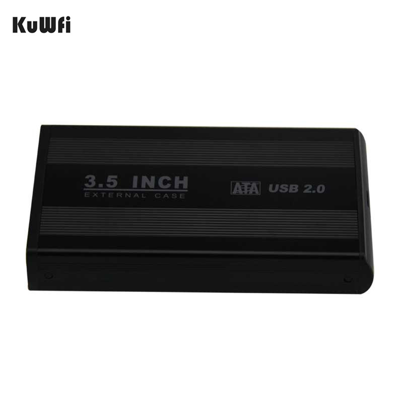 3.5 Inch HDD USB 2.0 SATA External Disk Hard Drive Enclosure Case Cover Support Hard Drive up to 1TB Up to 480Mbps Data Transfer 2 5 usb 3 0 to sata external hdd hard drive hard disk enclosure case sata hard drive enclosure caddy support hd up to 2tb