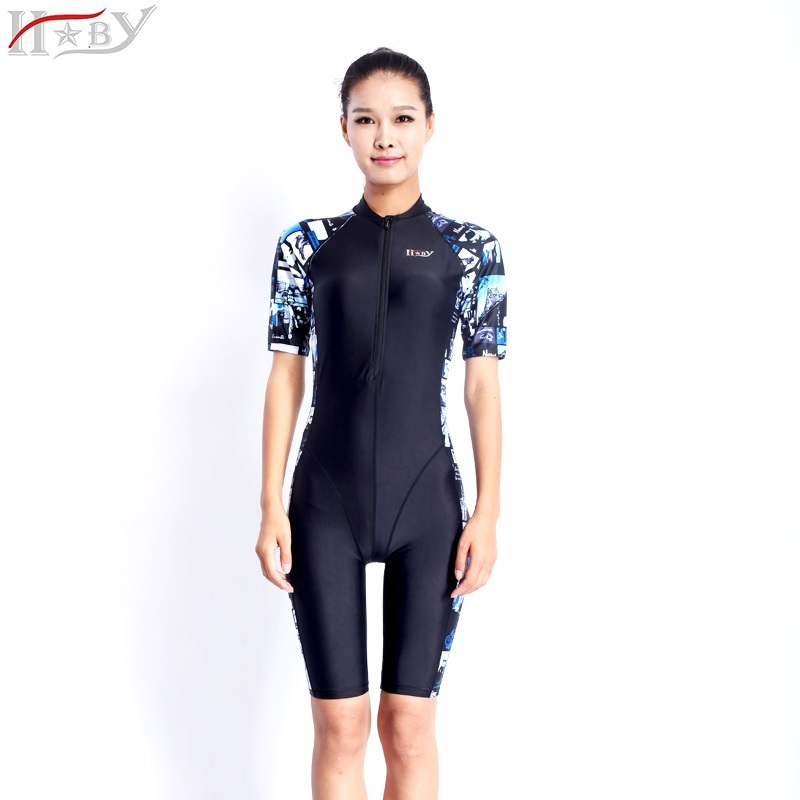 HXBYswimsuit competition swimsuits knee length female swimwear women arena racingswimming competitive plus size racing suit knee nsa competition knee length women s training