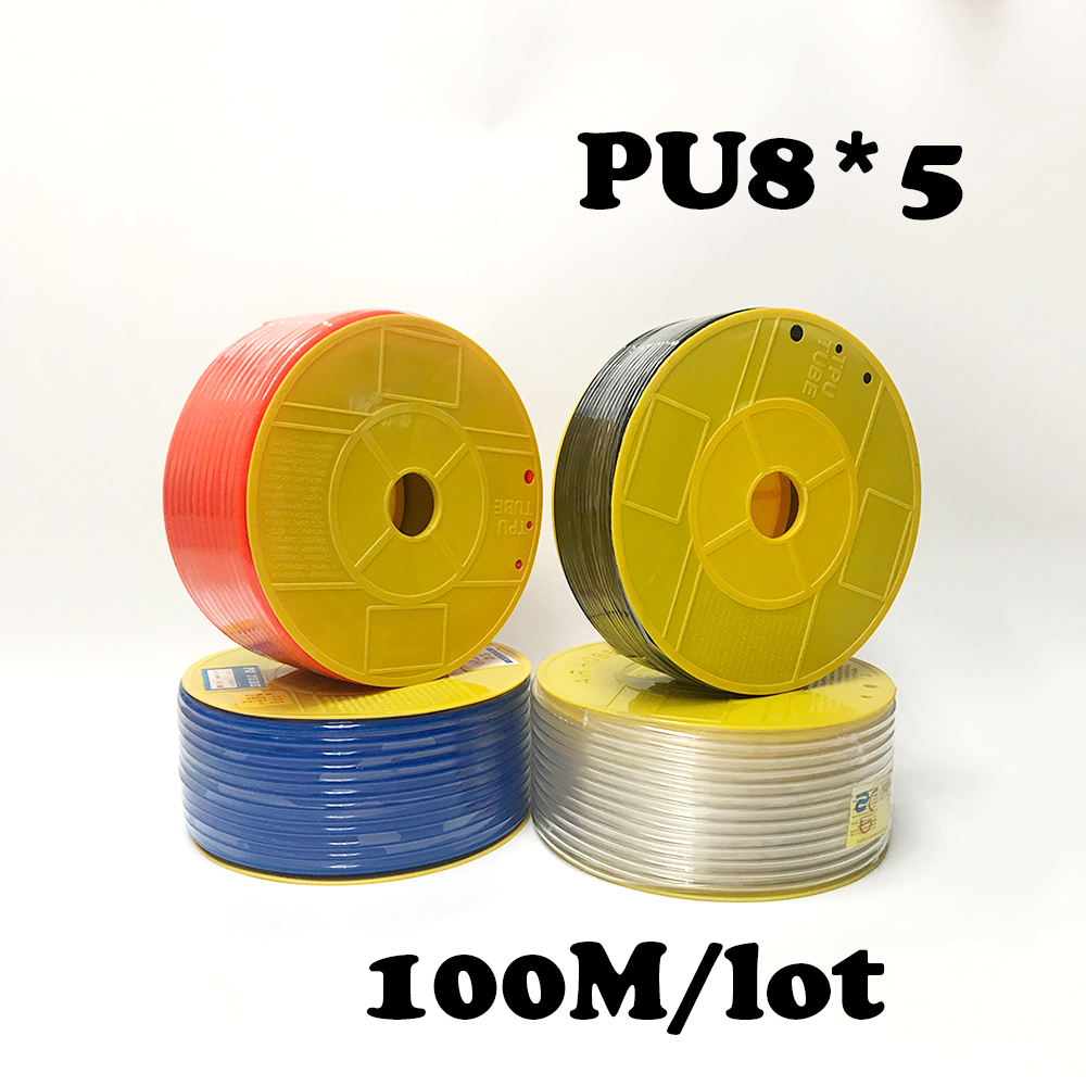 PU8*5 100m/roll PU tube 8*5mm air pipe to air compressor pneumatic component  red PU8*5 100m/roll PU tube 8*5mm air pipe to air compressor pneumatic component  red