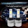 Comprar 1 pcs obter 1 pcs livre Super Brilhante Faróis Do Carro H4 H7 LEVOU H8/H11 HB3/9005 HB4/9006 8000lm Lâmpada Faróis de Automóveis 6000 K