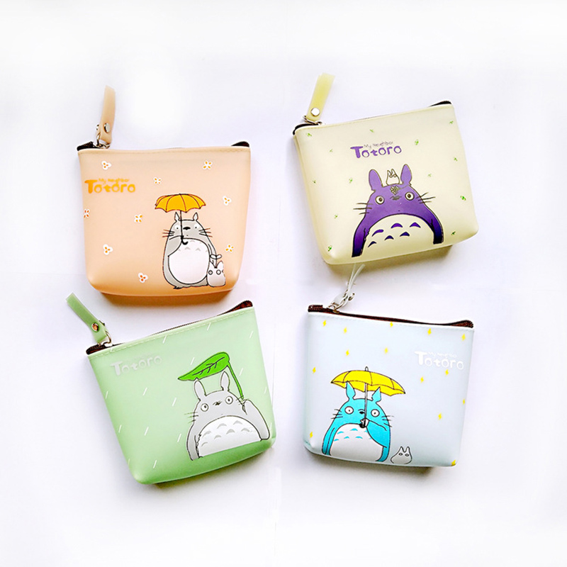 Cute Cartoon Coin Purse Totoro Printing For Women Girls Sweet Cheap Coin Pocket Mini Card Holder Case Money Bag Wallets cute cats coin purse pu leather money bags pouch for women girls mini cheap coin pocket small card holder case wallets