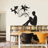 Removable Wall Sticker For Living Room Creative Idea Came From Books Home Decor Wall Decals Poster