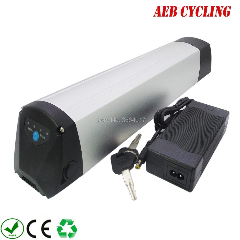 China Ebike <font><b>Lithium</b></font> ion <font><b>36V</b></font> <font><b>10Ah</b></font> slim down tube <font><b>battery</b></font> for fat tire bike city bike with <font><b>charger</b></font> image