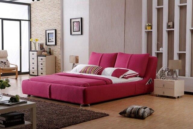 Design Slaapkamer Meubilair : Moderne designer stof zacht bed grote dubbele slaapkamer meubilair