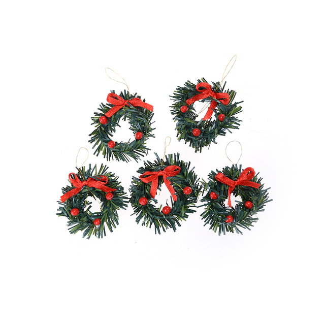 1PC Green xmas Christmas Wreath Color Pine Drop Ornament Christmas ...