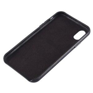 Image 5 - الحالات الهاتف الأصلي آيفون XS حافظة جلد طبيعي فاخر سليم جيد اللمس الشعور الغطاء الخلفي للقضية أبل آيفون X XS ماكس