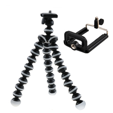 Octopus Mini Tripod Stand with phone Clip Mount For Mobile phone Gopro Hero 5 4 3 2 Session EKEN SJcam Action camera Xiaomi Yi