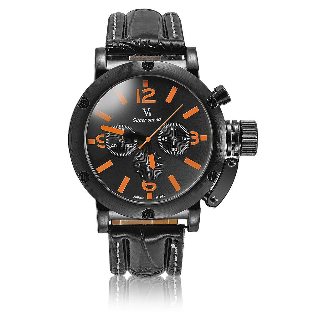 V6 Brand Fashion Men Necessary Sport Large Dial Men Watches Business Quartz Wristwatch Relogio Masculino 1042 скатерти и салфетки tango скатерть kenna 130х180 см