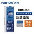 Originales nohon 3000 mah batería de alta capacidad batería de repuesto para samsung galaxy note 4 note4 n9100 n9109w n9108v eb-bn916bbc