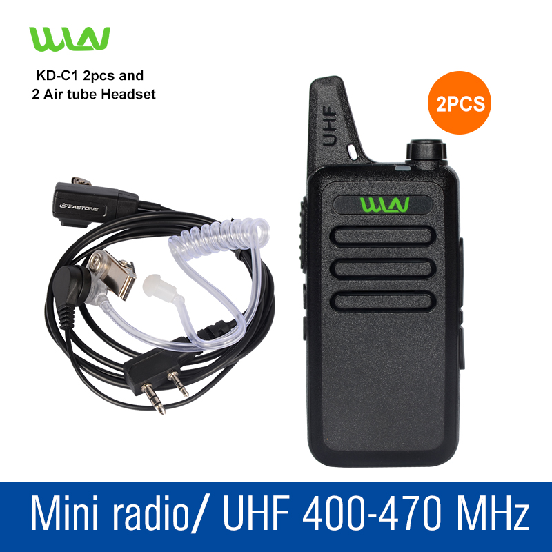2 pcs KD C1 black UHF 400 470 MHz Portable Talkie Transceiver Two Way Amateur Radio