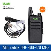 2 шт. KD-C1 черный UHF 400-470 МГц Портативный Рации Приемопередатчик Двухстороннее Любительское Радио Радиолюбителей Портативной Рации радио Коммуникатор