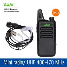 2 pcs KD-C1 black UHF 400-470 MHz Portable Talkie Transceiver Two Way Amateur Radio Ham Radio Walkie Talkie Radio Communicator