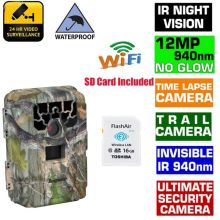 Free 16GB Wifi SD Card+Blueskysea SG-880V 1080P No Glow 12MP 940NM Night Vision Infrared IR Trail Scouting Camera Hunting Camera