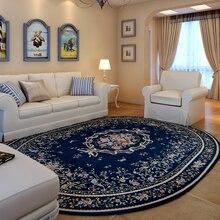 Lanskaya American Pastoral big  carpets living room washable large rugs  hotel Oval Bedroom Slip Resistant mat